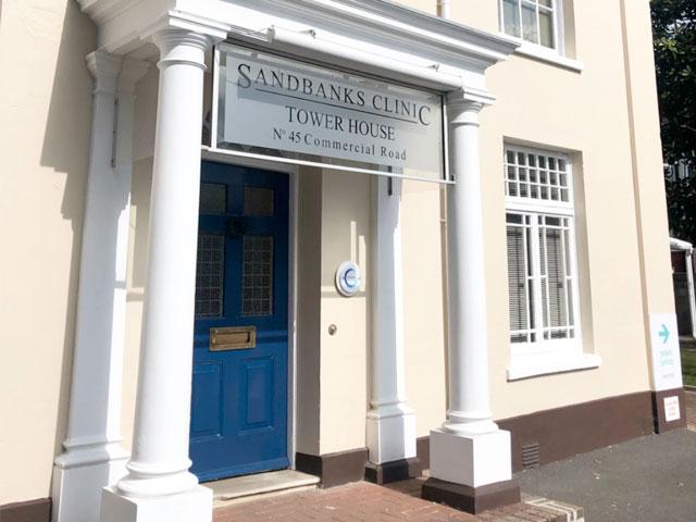 Sandbanks Clinic entrance